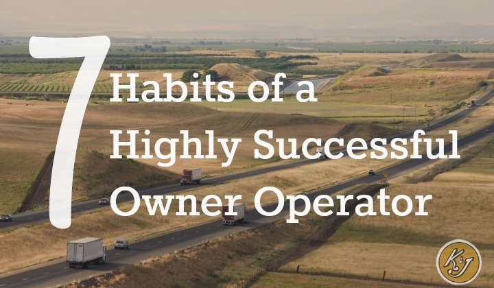 7 habits of a highly successful owner operator