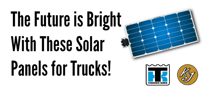 The Future is Bright with These Solar Panels for Trucks!