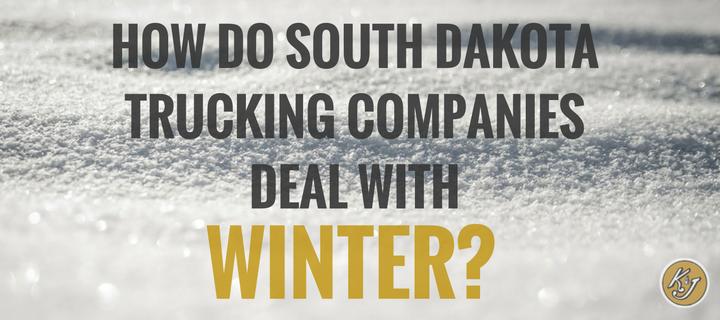 How Do South Dakota Trucking Companies Deal With Winter?