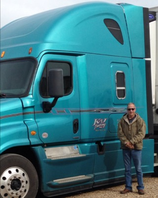 Rick Meyer in front of his truck