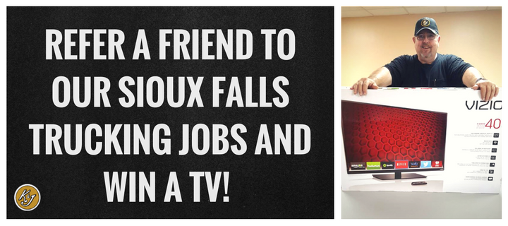 Refer a Friend to Our Sioux Falls Trucking Jobs and Win a TV!