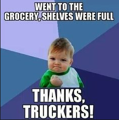 Thank truckers for full grocery shelves | K&J Trucking