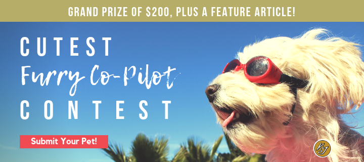 Cutest Furry Co-Pilot Contest - Grand prize of $200, plus a feature article! Submit Your Pet!